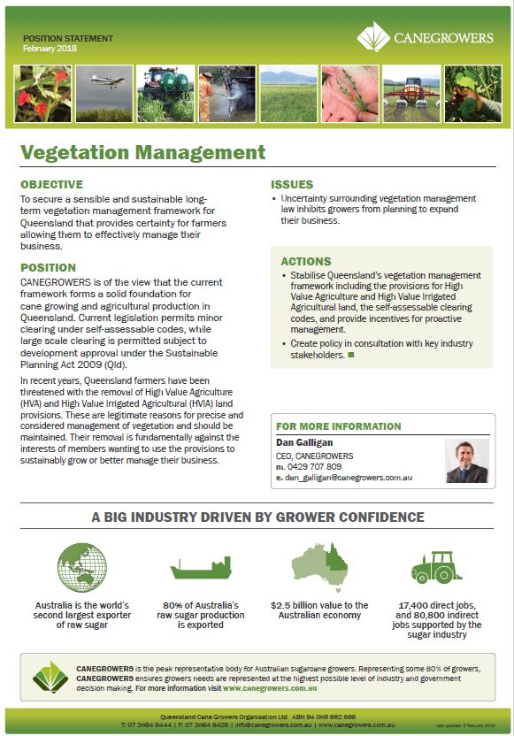 Position statement - Vegetation management